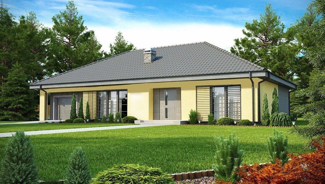 Проект элегантного дома с тремя спальнями