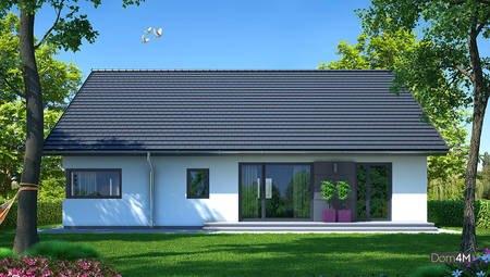 Красивый жилой дом квадратной формы