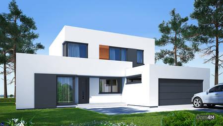 Стильный величественный двухэтажный дом в стиле минимализма