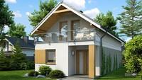Современный двухэтажный коттедж для узкого участка