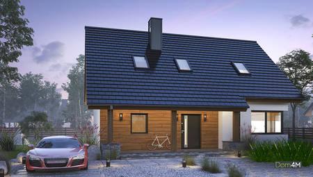 Красивый дом с мансардой для большой семьи