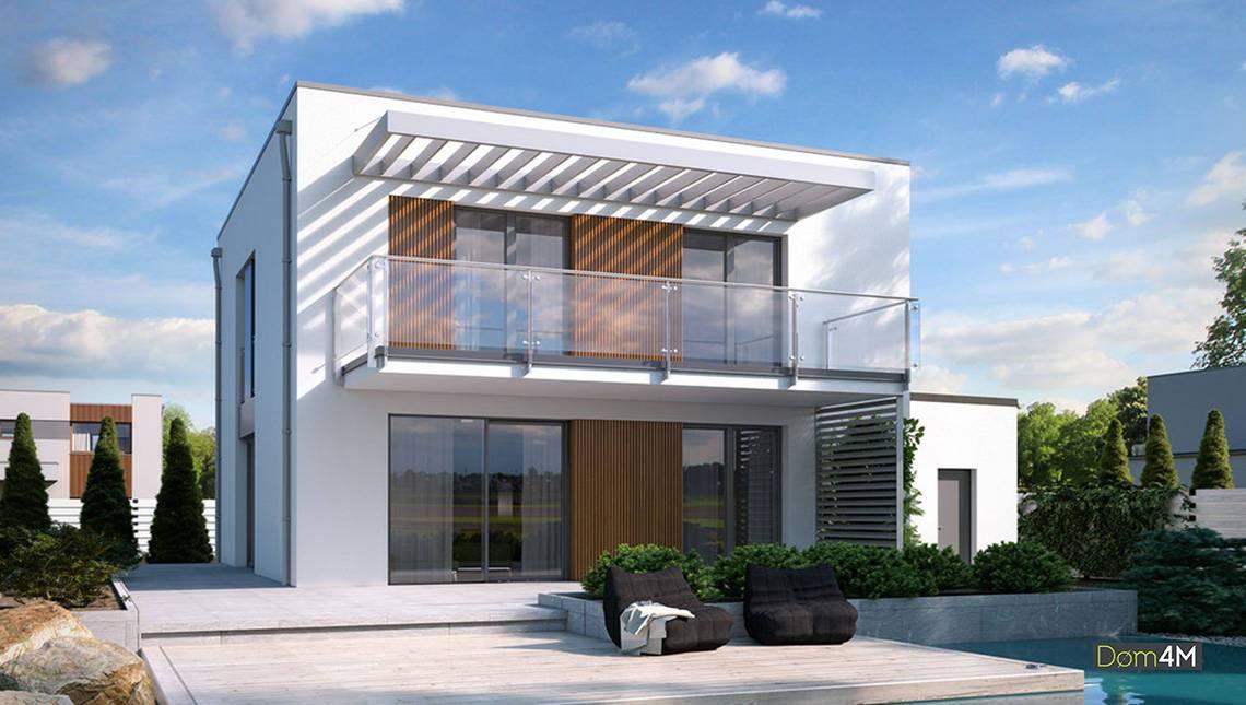 Двухэтажный шикарный особняк в стиле минимализма