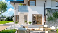 Двухэтажный жилой дом с спортзалом