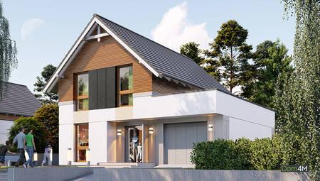 Двухэтажный особняк с тремя спальнями и гаражом