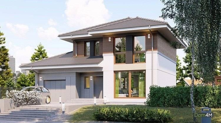 Стильный двухэтажный особняк с гаражом