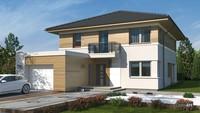 Современный дом с деревянными архитектурными элементами