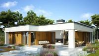 Красивый одноэтажный коттедж с просторными верандами