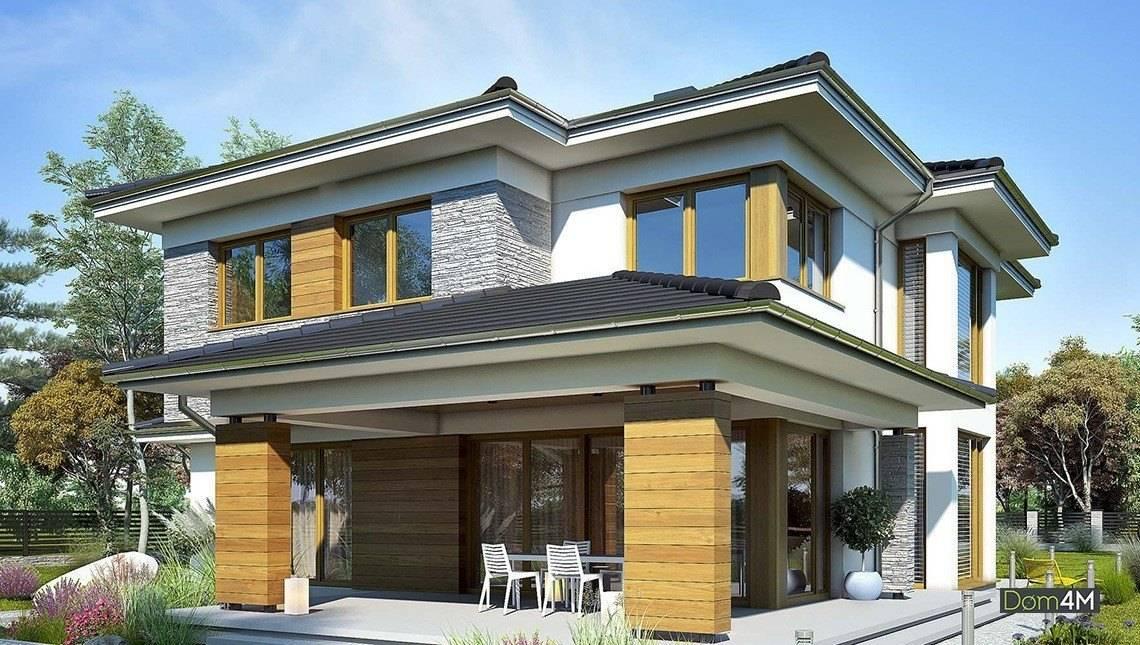 Модный двухэтажный дом с пятью спальнями