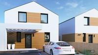 Двухэтажный дом с тремя спальнями и красивой гостиной
