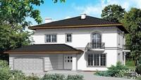 Красивый дом с тремя ажурными балкончиками