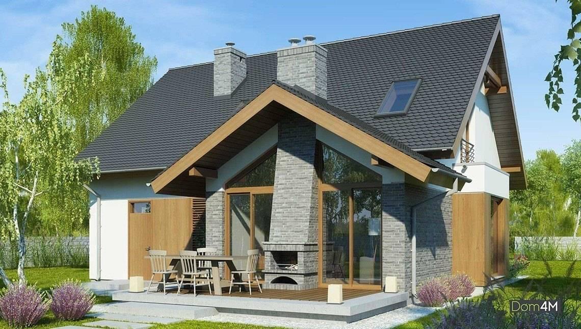 Современный двухэтажный дом с просторными личными комнатами
