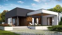 Удобный стильный одноэтажный дом