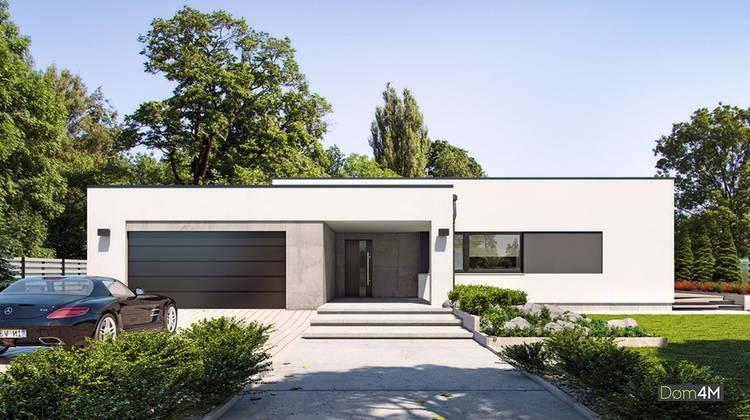 Одноэтажный супермодный белоснежный дом