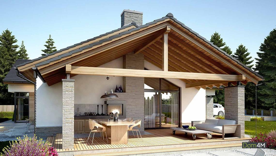 Просторный загородный одноэтажный дом