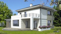 Двухэтажный особняк с просторной террасой