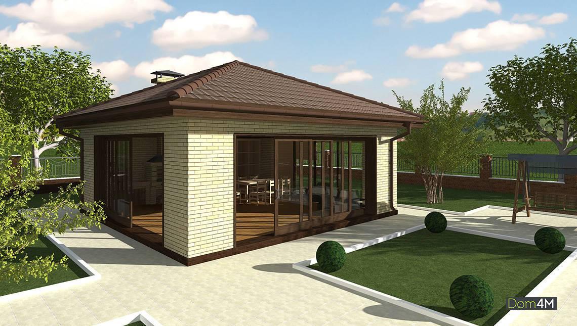 Дом для отдыха на загородной территории
