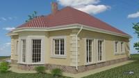 Современный коттедж с тремя спальнями