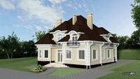 Двухэтажный особняк с пятью балконами