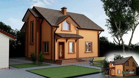 Компактный двухэтажный дом на три спальни