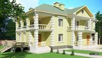 Двухэтажный шикарный дом с 4 спальнями
