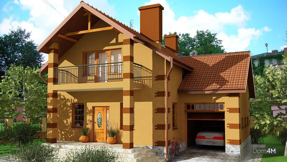 Двухэтажный дом на 3 спальни со встроенным гаражом