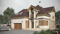 Современный загородный дом с 5 спальнями