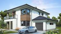 Проект двухэтажного дома с просторной гостиной и зоной отдыха