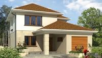 Большой красивый дом для узкого участка