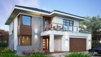 Двухэтажный жилой дом с просторным гаражом