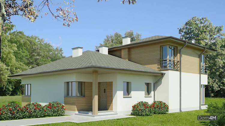 Проект двухэтажного красивого дома