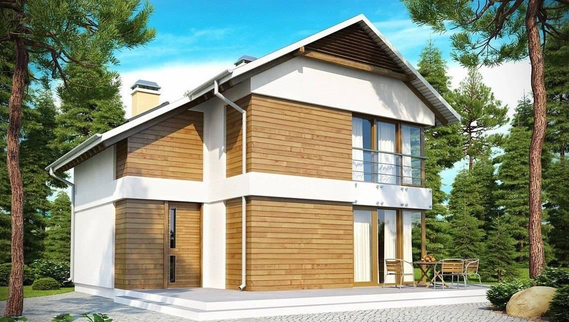 Проект двухэтажного дома для узкого участка