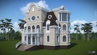 Проект четырехэтажного особняка в классическом стиле