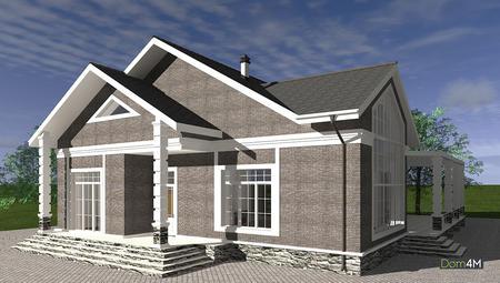 Схема одноэтажного дома с возможностью использования под мини-гостиницу