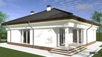 Схема одноэтажного светлого дома на 4 спальни