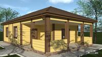 Проект компактного загородного дома для летнего проживания