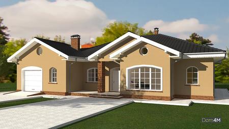 Схема строительства 1 этажного привлекательного дома