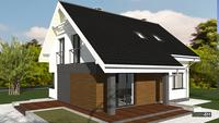 Проект  двухэтажного дачного домика