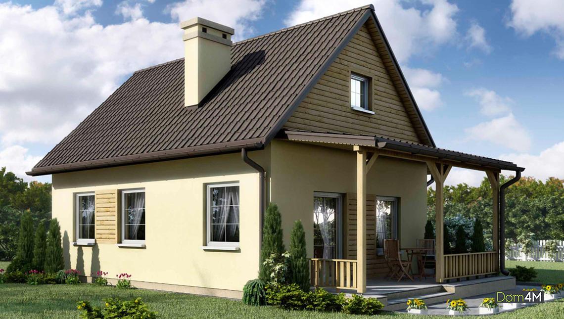 Схема небольшого одноэтажного дома на 3 спальни