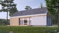 План одноэтажного жилого дома с 2 личными комнатами