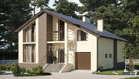 Схема трехэтажного особняка площадью 380 кв. м