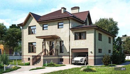 Проект восхитительного особняка площадью 436 кв. м со встроенным гаражом