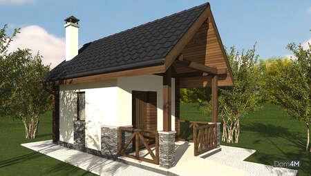 Проект садового домика площадью 20 кв. м для хранения инструмента и урожая с приусадебного участка