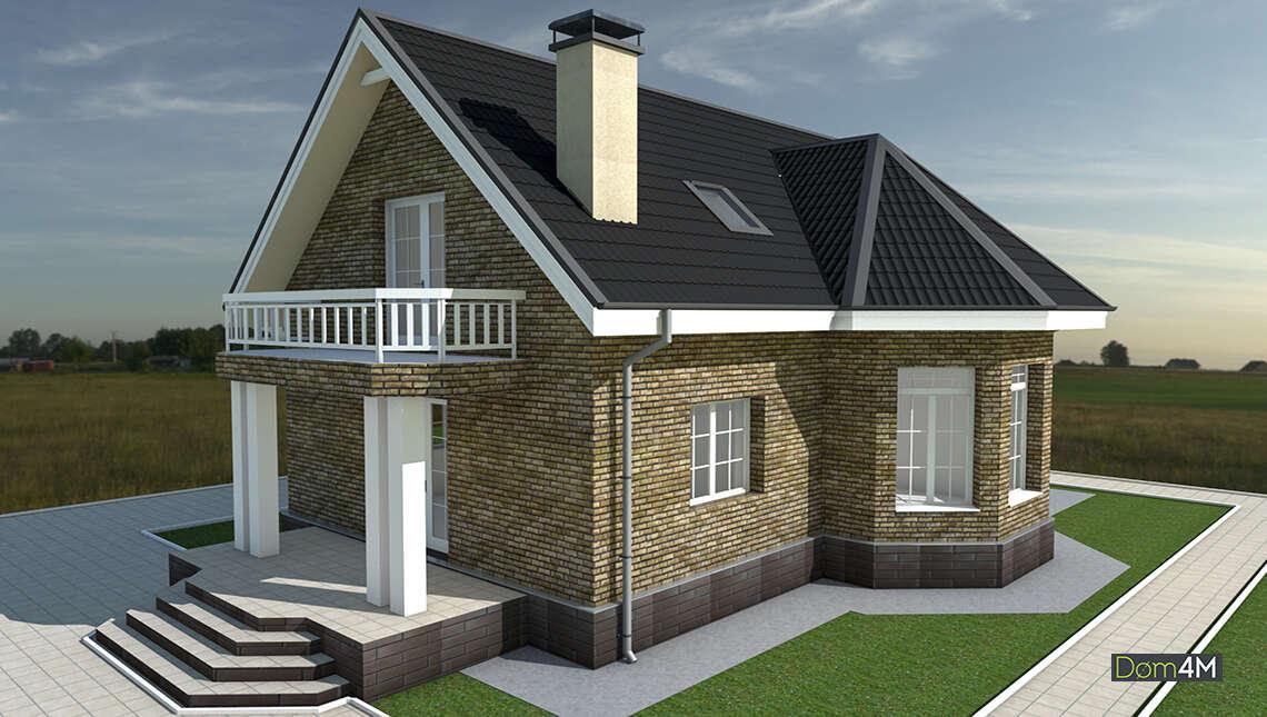 Проект двухэтажного коттеджа площадью 167 кв. м в европейском стиле со вторым светом