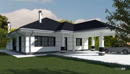 Проект красивого дома площадью 170 кв. м с торжественным экстерьером