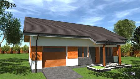 План дома площадью 98 кв. м для дачной или тесной городской застройки