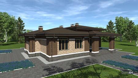 Проект дома со сложной крышей площадью 164 кв. м для постоянного проживания