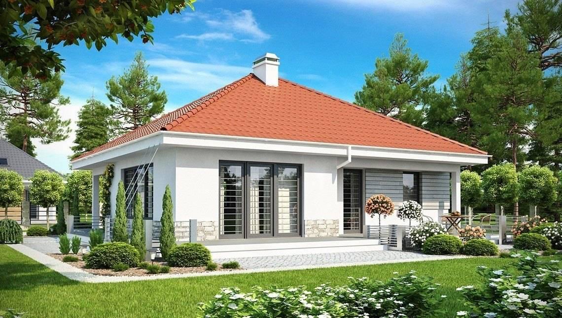 Проект дома с фронтальной дневной зоной