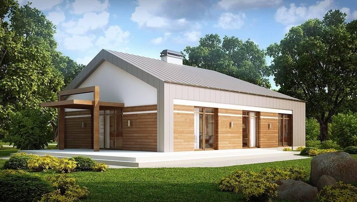 Проект современного частного классического загородного одноэтажного дома