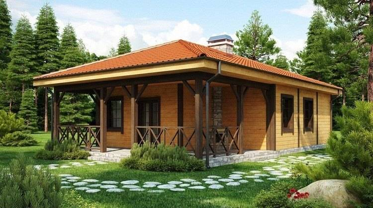 Проект дома с крытой террасой