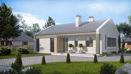 Проект недорогого энергосберегающего современного дома
